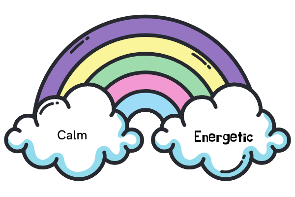 calm to energetic